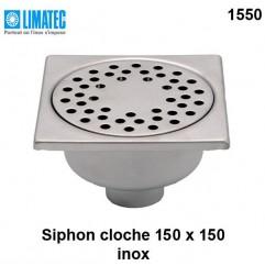 1550 Siphon cloche inox 150 x 150