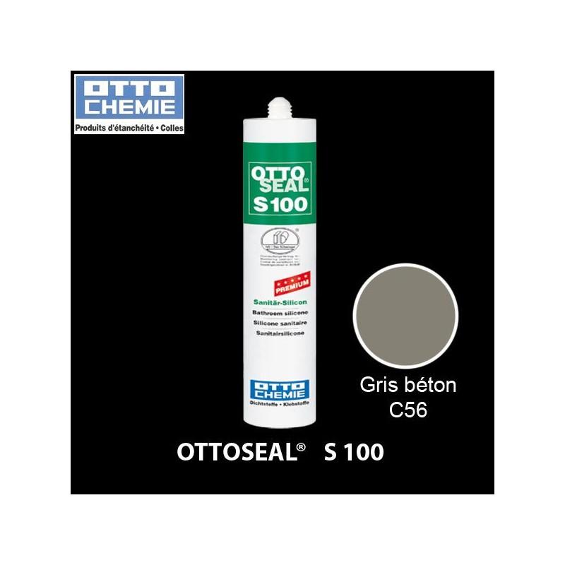 OTTOSEAL S100 C56 mastic silicone premium gris béton