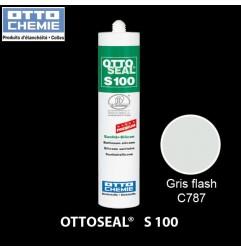 OTTOSEAL S100 C787 mastic silicone premium gris flash