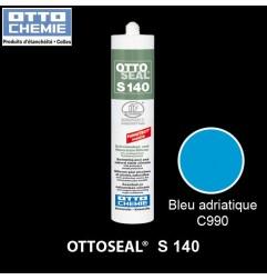 OTTOSEAL S140 C990 mastic silicone piscine et pierre naturelle bleu adriatique