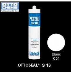 OTTOSEAL S18 C01 mastic silicone spécial piscine blanc