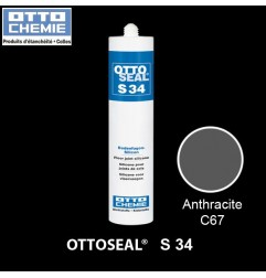 OTTOSEAL S34 mastic silicone spécial joints de sol anthracite