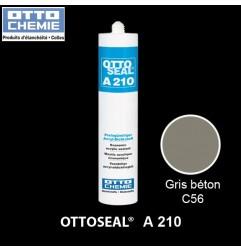 OTTOSEAL A210 mastic acrylique économique C56 gris béton