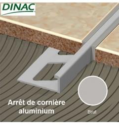 Arrêt de cornière aluminium brut 8 mm