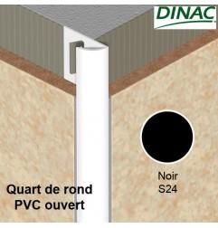 Quart de rond ouvert PVC noir 6 mm