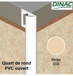 Quart de rond ouvert PVC beige 8 mm