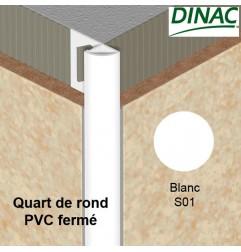 Quart de rond fermé PVC blanc 8 mm