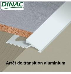 Arrêt de transition aluminium anodisé naturel 12.5 mm