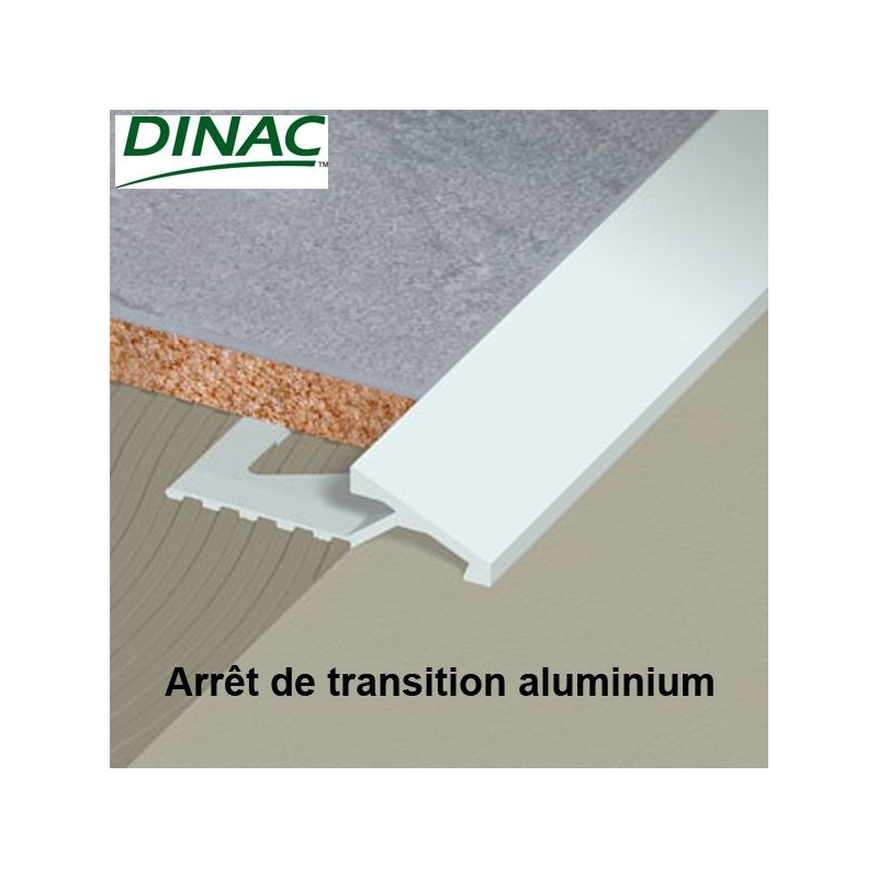 Arrêt de transition aluminium anodisé naturel 12.5 mm