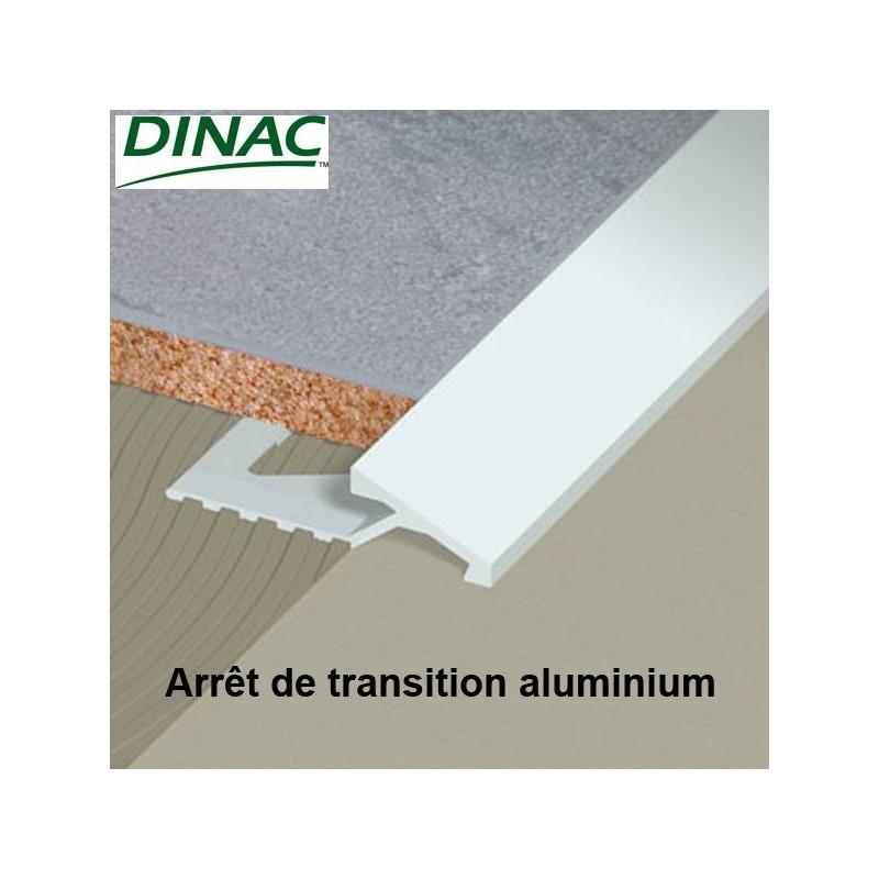 Arrêt de transition aluminium brut 15 mm