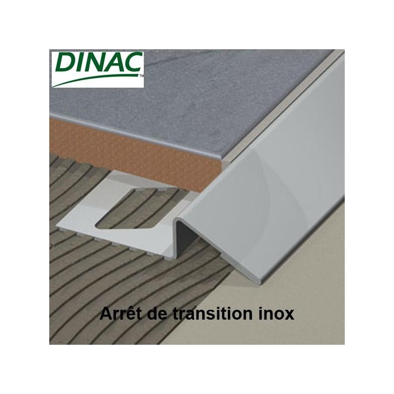 Arrêt de transition inox plié brossé 10 mm