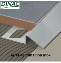 Arrêt de transition inox plié brossé 15 mm
