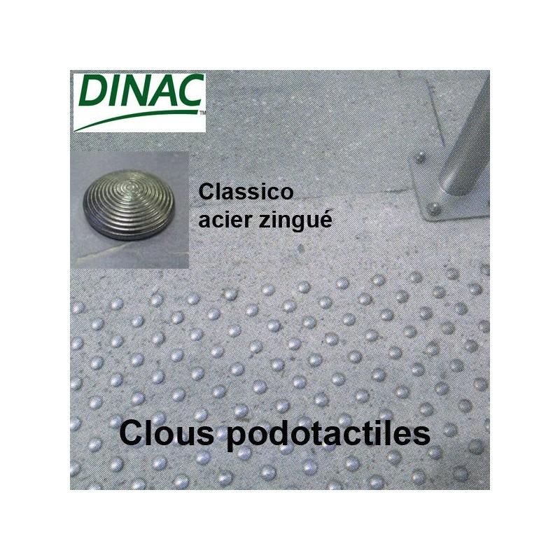 Clous podotactiles Classico acier zingué Ø 25 mm à sceller
