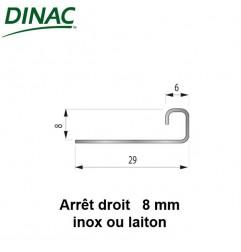 Arrêt droit inox brillant 8 mm