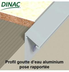 Profil aluminium goutte d'eau pose rapportée