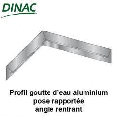 Angle rentrant pour profil aluminium goutte d'eau pose rapportée