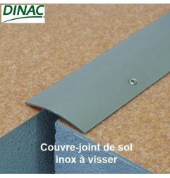 Couvre-joint de sol à visser inox brillant 70 mm Long. 300 cm