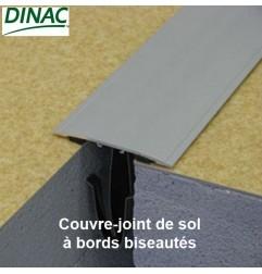 Couvre-joint de sol adhésif à bords biseautés aluminium anodisé naturel 80 mm Long. 300 cm