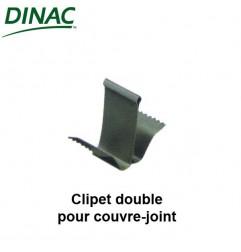 Clipet double inox pour couvre-joint sol et murs