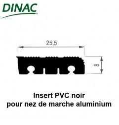 Insert PVC noir pour nez de marche aluminium