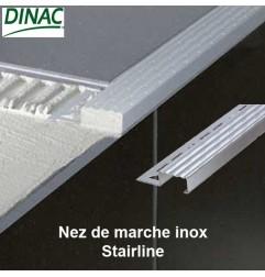 Nez de marche inox brossé 13.5 mm