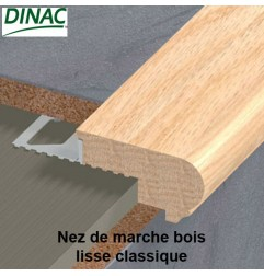 Nez de marche chêne lisse classique large 14 mm