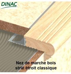 Nez de marche chêne strié étroit classique 11.5 mm