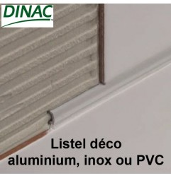 Listel décoration inox brillant 20 x 6 mm