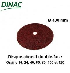 Disque abrasif papier double-face grain 40. Lot 10 unités