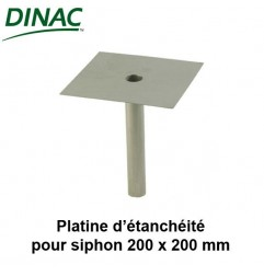 Platine d'étanchéité pour siphon 200 x 200 Dinac