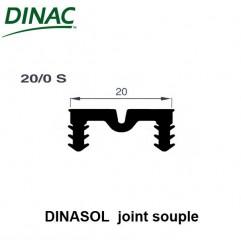 Dinasol 20/0 S joint souple 20 mm noir strié