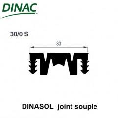 Dinasol 30/0 S joint souple 30 mm noir strié