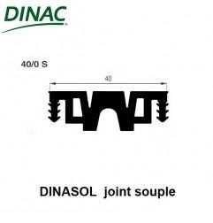 Dinasol 40/0 S joint souple 40 mm noir strié