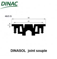 Dinasol 46/3 S joint souple 46 mm noir strié ressaut 3 mm