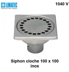 1040 V Siphon cloche inox 100 x 100
