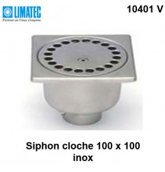 10401 V Siphon cloche inox 100 x 100