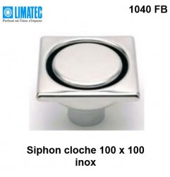 1040 FB Siphon cloche inox 100 x 100 surbaissé