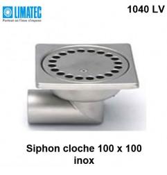 1040 LV Siphon cloche inox 100 x 100