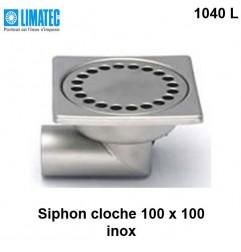 1040 L Siphon cloche inox 100 x 100