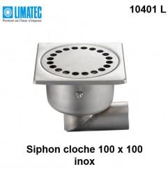 10401 L Siphon cloche inox 100 x 100