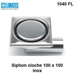 1040 FL Siphon cloche inox 100 x 100