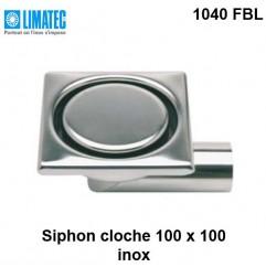 1040 FBL Siphon cloche inox 100 x 100 surbaissé