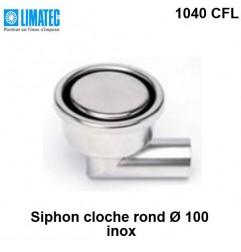 1040 CFL Siphon cloche inox rond Ø 100