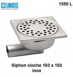 1550 L Siphon cloche inox 150 x 150