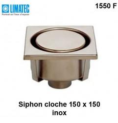 1550 F Siphon cloche inox 150 x 150