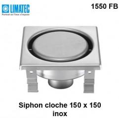 1550 FB Siphon cloche inox 150 x 150 surbaissé
