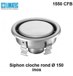 1550 CFB Siphon cloche inox rond Ø 150 surbaissé