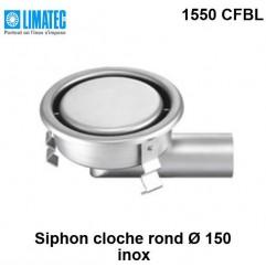 1550 CFBL Siphon cloche inox rond Ø 150 surbaissé
