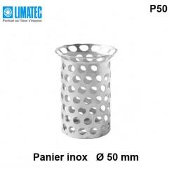 Panier P50 pour siphon Limatec Ø évacuation 50 mm