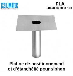 Platine d'étanchéité pour siphon Ø 100 mm